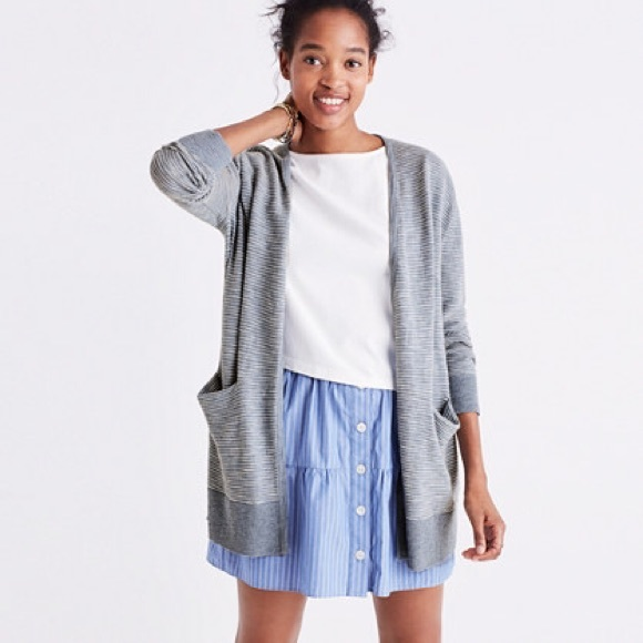 5bc96918b5a5 Madewell Sweaters - Madewell Summer Ryder Cardigan Sweater in Stripe